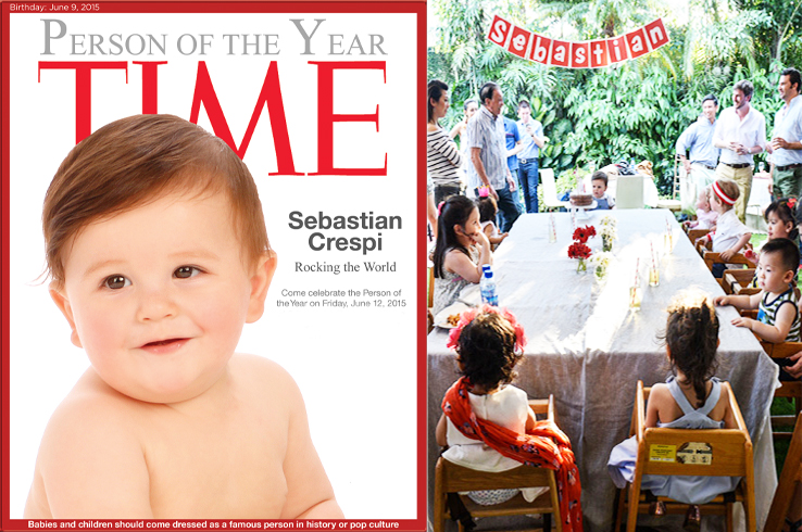 Sebastian's 1st Birthday Time cover