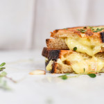 Grilled Brie and Truffled Honey Pear Sandwiches