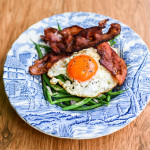 A balanced brunch – Green Beans with Bacon and Eggs