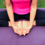 Yoga poses to release lower back tension: Baddha Konasana