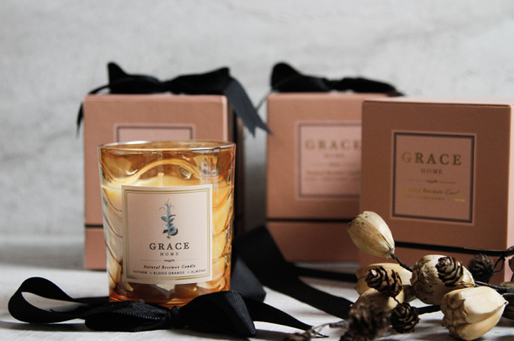 grace candle vetiver