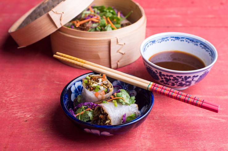vegetable rice paper rolls 1