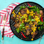 Jamaican Jerk Pork Chops with Mango Salsa